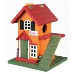 maison en bois colorée pour rongeur