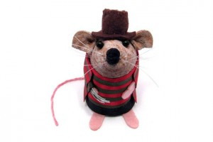 Freddy krueger mouse figurine